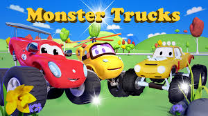 100 Kids Monster Trucks Watch Truck Cartoon For Prime Video