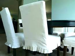 Chair Covers Pattern Dining Slipcover Room Skirted Chairs White