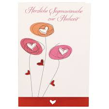 Glückwunschkarte Herzliche Segenswünsche Zur Hochzeit 6 Stck Motiv Blumen