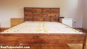 diy queen platform bed with headboard howtospecialist how to