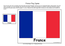 France Flag Colouring Page