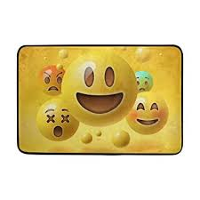 smiley bureau jstel smiley jaune avec émoticône emoji paillasson intérieur
