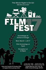 The Stevenson University Department Of Film And Moving Image Is Excited To Announce 8th Annual SU Festival This Year Will Be In