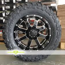 100 Gear Truck Wheels Alloy 726 Big Block Black Milled For Sale Alloy