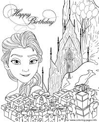 Elsa Ice Castle Gifts Colouring Page Coloring Pages