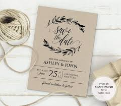 Rustic Wedding Invite Template Invitation Templates Ideas Diy And Etsy Invitations