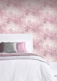 tapete libellen floral rosa silber glanz fantasia 692305