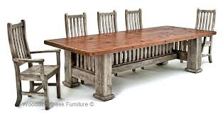 Barnwood Dining Room Tables Reclaimed Table Mission Style For Cool Chair Wall Diy