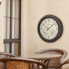 W Outdoor Wall Clock With 2 Step
