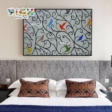 farbe vögel muster wand kunst schlafzimmer mosaik wandbild