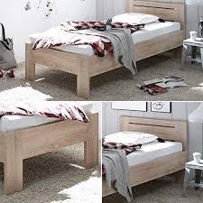 saturn stilvolles futonbett 90 x 200 cm komfortables jugendzimmer einzelbett in eiche sonoma optik 95 x 76 x 204 cm b h t