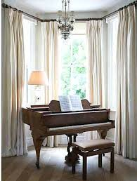 bay window curtain ideas living room curtains on windows