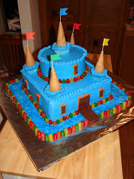 Cakes Decorated With Candy by Castle Birthday Cake Blue Candy Castle Cake For Several Kids