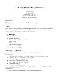 Restaurant Resume Example Sample For Study Examples Of Intended Supervisor
