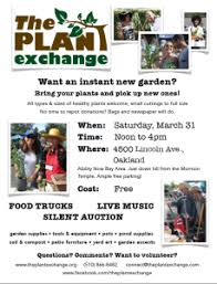 Save the Date The Plant Exchange in Oakland CAThe Plant