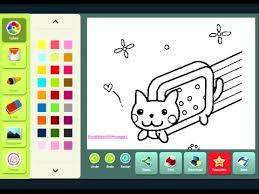 Nyan Cat Coloring Page