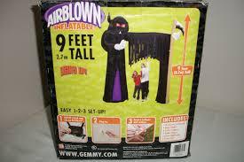 Gemmy Inflatables Halloween by Gemmy Halloween Airblown Inflatable 9 Feet Tall Grim Reaper