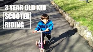Kid Riding Razor Scooter How To Ride For Kids