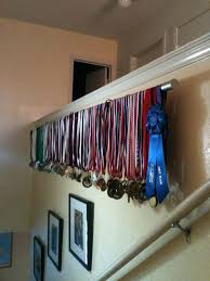 Ideas To Hang Medals Display With Curtain Rod This Would Be Great For My Little Way