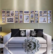 de foto wand holz kreative fotowand wohnzimmer große