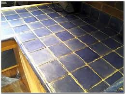 tiled counter before regrouting gallery