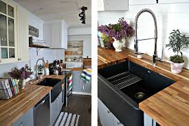 Black Sink Modern Farmhouse Kitchen