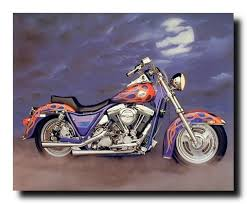 Amazon 1986 FXR Harley Davidson Vintage Motorcycle Home Wall Decor Art Print Poster 16x20 Posters Prints