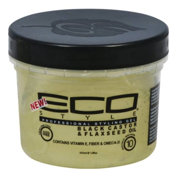 Eco Style Styling Gel, Professional, Black Castor & Flaxseed Oil - 12 fl oz