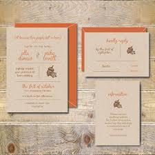 Unique Fall Wedding Invitations Best Images On Autumn