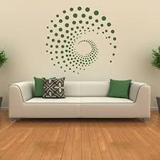 malango wandtattoo ornament spirale punkte wand wandaufkleber wanddesign design kunst style aufkleber ca 60 x 57 cm grau