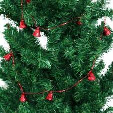 Image Is Loading 183cm Red Bell Balls Beaded Garland String Christmas