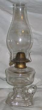 antique glass oil l with chimney burner antique glass and