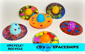 Mothers Day Crafts Upcycle A CD For An Out Of This World Gift
