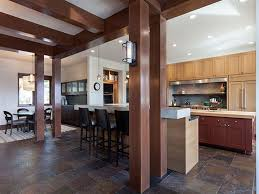 craftsman kitchen with tile pendant light in truckee ca