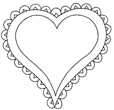 Beautiful Decoration Heart Coloring Pages Valentine S Day Printable