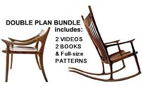 sam maloof rocking chair class sculptured rocker plans dvd with charles brock