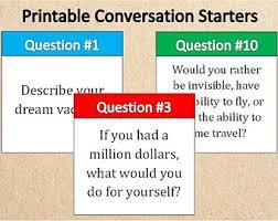 15 Printable Conversation StartersInstant Download Unique CardsDreamsAspirationsGoals