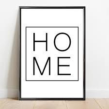 poster schwarz weiß 4er set i welcome home hello i din a4 i