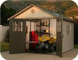11x13 plastic storage shed w 9 doors 60187 0125