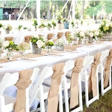 Rustic Party Decorations Bulk Save Hessian Lace Table Runner Burlap Wedding