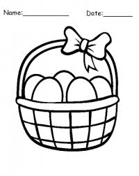 Easter Eggs Basket Printable Coloring Pages