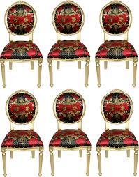 pompöös by casa padrino luxus barock esszimmerstühle schwarz rot gold pompööse barock stühle designed by harald glööckler 6