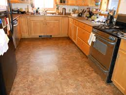 Cork Flooring Reviews For Kitchen Decor With Cabinet And Free Standing Range Plus Glass Window
