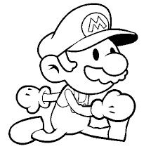 Coloriage Super Mario En Ligne Gratuit à Imprimer