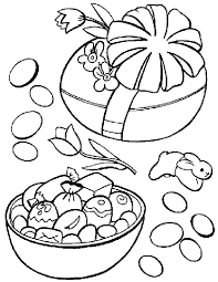 Easter Candy Coloring Page