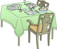Clip Art Dinner Table Setting Clipart Suggest