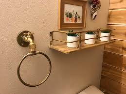 Diy Industrial Bathroom Mirror by Diy Industrial Bathroom Towel Ring Three Clementines