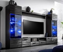 wohnwand hans wohnzimmer tv schrank modern schwarz hochglanz