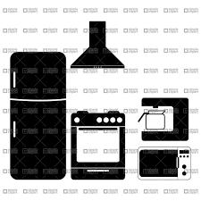 Pictograms Of Kitchen Appliances 21303 Vector Clipart Eps