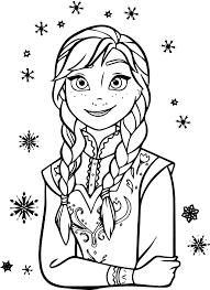 Frozen Anna Coloring Page In Pages Within